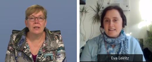 Mit Grußworten von MinR'in Andrea Noske vom Bundesministerium für Bildung und Forschung (links) und Dr. Eva Leiritz vom Projektträger Jülich wurde das Statusseminar eröffnet.